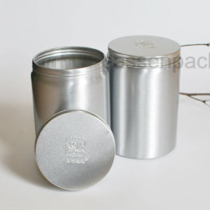 Luxury Aluminum Tea Canister with Logo Embossing (PPC-AC-1701) pictures & photos