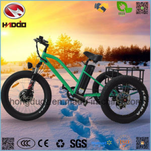 Aluminum Alloy Cheap Fat Tire Lithium Battery Cargo Electric Tricycle pictures & photos