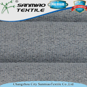 Indigo Spandex Polyester Knit Denim Terry Fabric pictures & photos