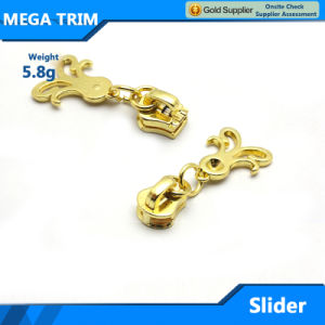 High Quality Light Gold Metal Zipper Slider pictures & photos