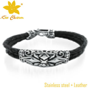 Stlb-019 Classical Genuine Leather Bracelet Beads pictures & photos