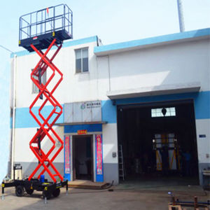 12m Manganese Steel Scissor Lift with Ce&ISO9001 pictures & photos
