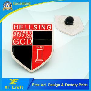 Manufacturer Custom Metal Flame Gun Matte Nickel Enamel Craft Badge with Lower Price (XF-BG22) pictures & photos