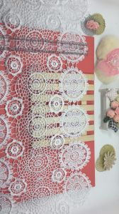 New Design 40cm Width Embroidery Trimming Nylon Polyester Lace for Garments & Home Textiles & Curtain Accessory pictures & photos