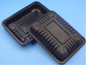wholesale fresh meat vegetable black plastic tray pictures & photos