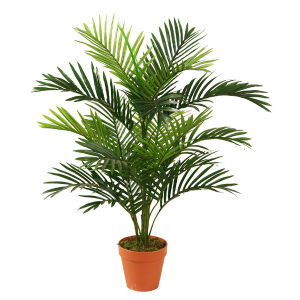 Artificial Mini Palm Plants with Plastic Pot