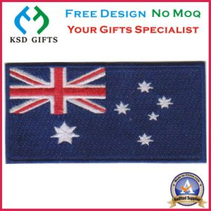 Australia Flag Embroidery Patch with Magic Tape/Velcro on Back pictures & photos