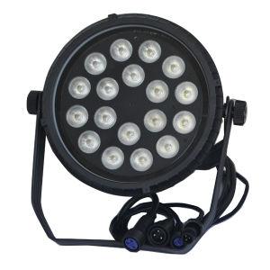 Waterproof IP65 Slim Flat RGBWA UV LED PAR Stage Light 18X12W pictures & photos