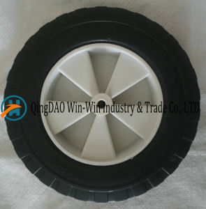 Flat Free PU Wheels with Spoke Color and Rim pictures & photos