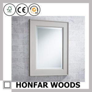 Whit Decorative Bathroom Wooden Mirror Frame for Modern Decor pictures & photos