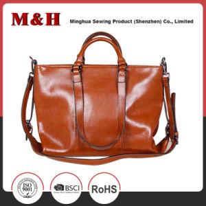 Dual-Use Large Capacity PU Genuine Leather Handbag pictures & photos