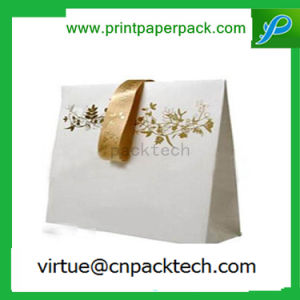 Luxury Recycled Floral Design Kraft Paper Gift Bag for Present Packging pictures & photos