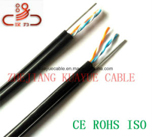 Filled Drop Wire 2 Pair Messenger Telephone Cable/Computer Cable/ Data Cable/ Communication Cable/ Connector/ Audio Cable pictures & photos