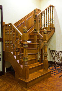 China Staircase Manufacturer Solid Wooden Stairs pictures & photos