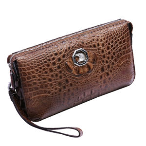 Men Genuine Leather Brand Bag Luxury Crocodile Wristlet Clutch Bag pictures & photos