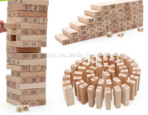 Children Kids Wooden Puzzle Building Block Toy with Number Mark pictures & photos