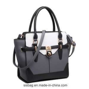 Designer Contrast Color PU Lady Handbag Fashion Bags pictures & photos