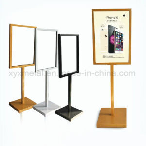 High End Silver Matte Advertising Poster Display Stand Frame pictures & photos