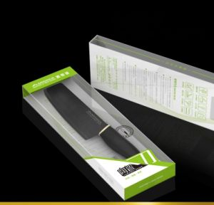 China Factory Extra Sharp Matt Black Ceramic Chef Cleaver Knife pictures & photos