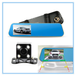Auto Dashcam Video Recorder Rearview Camera Mirror Vehicle Car DVR pictures & photos