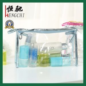 Glass Clear PVC Toiletry Cosmetic Bag Cosmetic Pouch with Zip pictures & photos