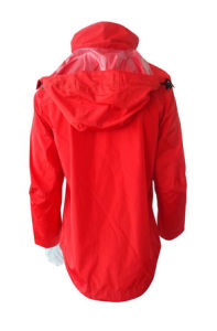 Hot High Quality Nylon Red Rain Coat Jacket Work Cloth Workwear Apparel Short Coverall pictures & photos