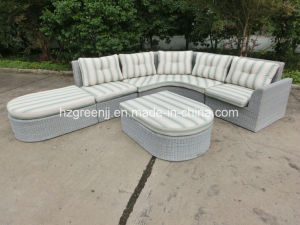 5 Pieces Wicker Lounger Sofa Set Rattan Outdoor Furniture pictures & photos