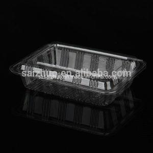 Rectangular BOPS Disposable Plastic Sushi Cake Snack Container (SZ-008) pictures & photos