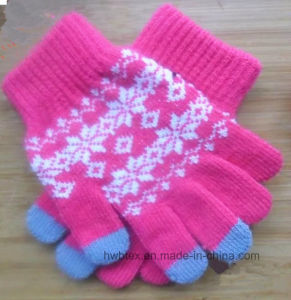 Custom Winter Magic Texting Touch Screen Gloves (HWBG02) pictures & photos