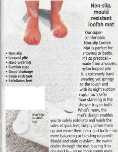 Stain Resitant Loofa Mat Bath Mat Non Slip Shower Rug pictures & photos