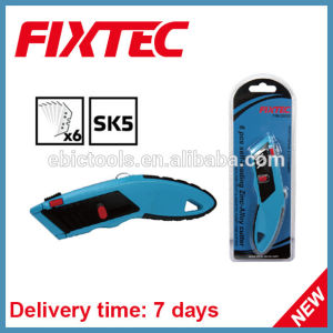Fixtec Hand Too Hardware High Quality Heavy Duty Zinc-Alloy Utility Knife with 6PCS Sk5 Blades pictures & photos