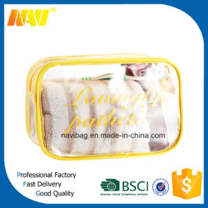 Transparent Clear PVC Travel Cosmetic Bag for Promotion pictures & photos