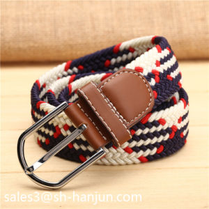 Fashion Ployester Elastic Braided Belts for Ladies