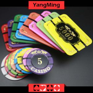 Crystal Poker Chips with Tiger Image Casino Chipss (YM-CP020-21) pictures & photos