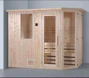 2400mm Solid Wood Sauna for 6 Persons with Double Layer Stool (AT-8640) pictures & photos
