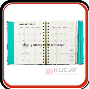 Custom Offset Hardcover Metal Spiral Planner Agenda Inner Pages pictures & photos