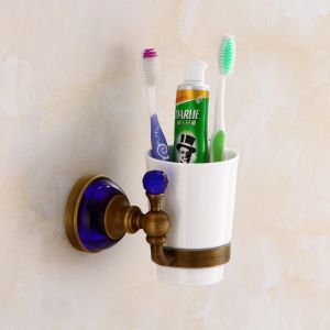 FLG Bathroom Fitting Single Antique Toothbrush Holder Wall Mounted pictures & photos