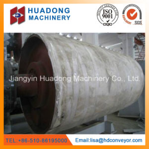 Lagging Rubber Surface Tail Drum Pulley for Belt Conveyor pictures & photos