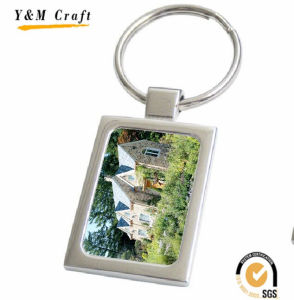 Promotional Gift Metal Key Ring with Customized Epoxylogo pictures & photos
