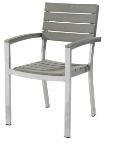 Outdoor Plastic Wooden Chair with Aluminum Frame (LN-1082) pictures & photos