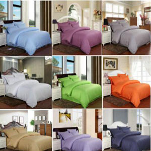 Stock Satin Stripe Bedding Set Bedsheet for Hotel/Home (DPF1059) pictures & photos