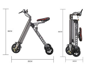 Super Light 11kg Three Wheels Mini Electric Folding Bike/Scooter pictures & photos