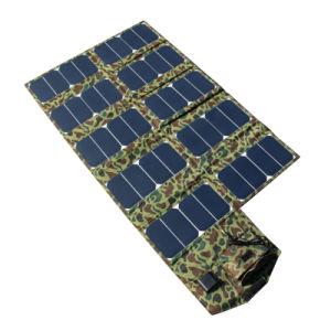 64W 5V 21V Foldable Solar Charger with USB DC Dual Output pictures & photos
