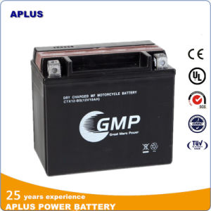Low Price Dry Mf Motorcyle Battery with Acid Bottle 12V 10ah pictures & photos