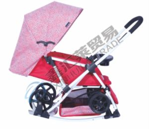 2 Colors Deluxe Canopy Baby Stroller pictures & photos