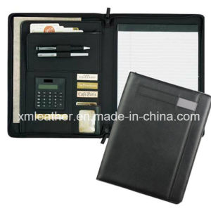 PU Leather Bound Document Holder Portfolio Folders with Calculator pictures & photos