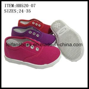 Children Canvas Shoes Injection Shoes Leisure Shoes Factory (HH520-07) pictures & photos
