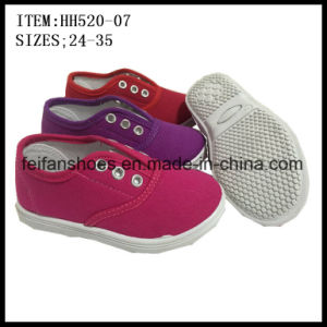 Children Canvas Shoes Injection Shoes Leisure Shoes (HH520-07) pictures & photos