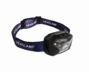 Mini USB Port Rechargeable Portable LED Headlamp Head Light (Black) pictures & photos