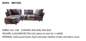 American Sofa Set Upholstered with PU for Living Room Furniture pictures & photos